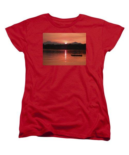 Our Beach At Sunset  Women's T-Shirt (Standard Cut) by Kym Backland
