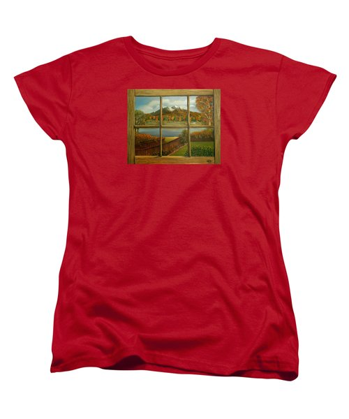 Out My Window-autumn Day Women's T-Shirt (Standard Cut) by Sheri Keith