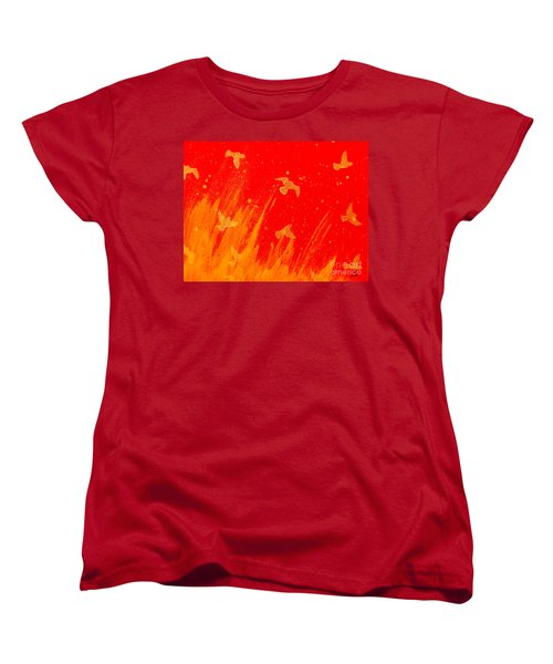 Out Of The Fire Women's T-Shirt (Standard Cut) by Stefanie Forck