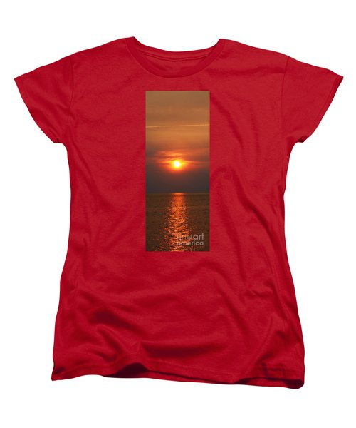 Women's T-Shirt (Standard Cut) featuring the photograph Outer Banks Sunset by Tony Cooper