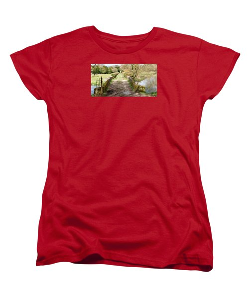 Women's T-Shirt (Standard Cut) featuring the photograph Over The River by Wendy Wilton