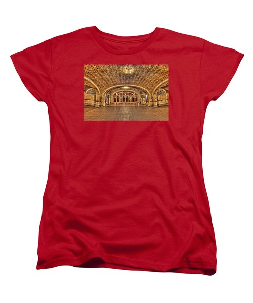 Oyster Bar Restaurant Women's T-Shirt (Standard Cut) by Susan Candelario