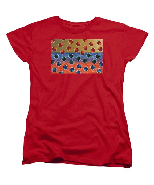 Pacman Zombies Awaking At Sun-rise Women's T-Shirt (Standard Cut) by Jeremy Aiyadurai