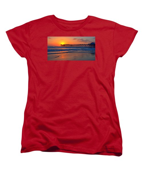 Pacific Beach Pier - Ex Lrg - Widescreen Women's T-Shirt (Standard Cut) by Peter Tellone