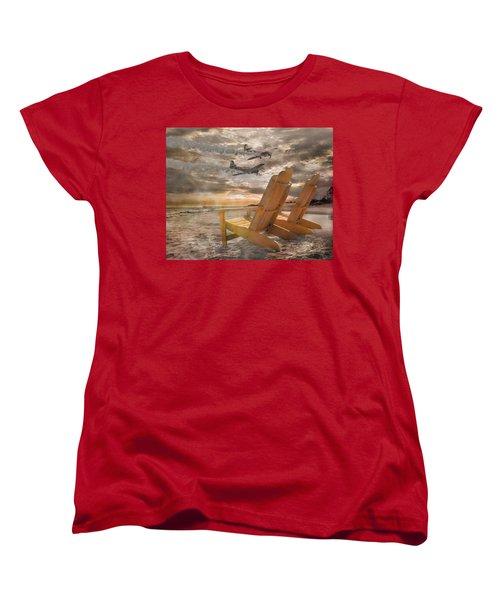 Pairs Along The Coast Women's T-Shirt (Standard Cut) by Betsy Knapp
