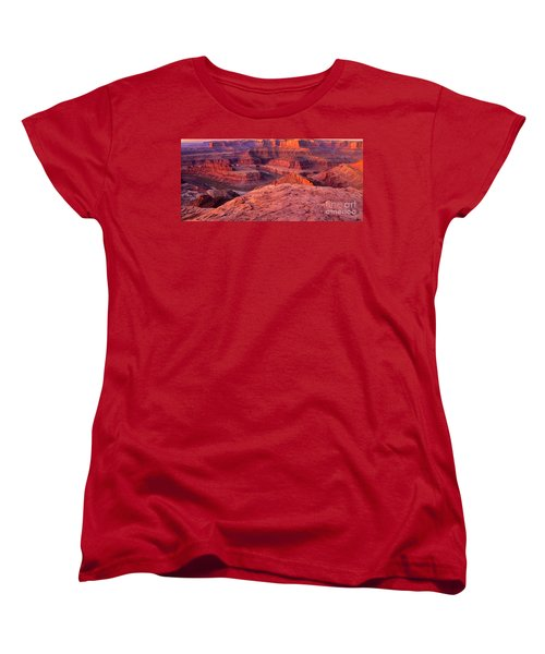 Women's T-Shirt (Standard Cut) featuring the photograph Panorama Sunrise At Dead Horse Point Utah by Dave Welling