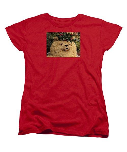 Women's T-Shirt (Standard Cut) featuring the photograph Papa Bear Gets Christmas Spirit by Nadalyn Larsen
