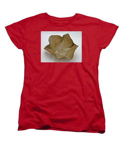 Women's T-Shirt (Standard Cut) featuring the sculpture Paper-thin Bowl  09-010 by Mario Perron