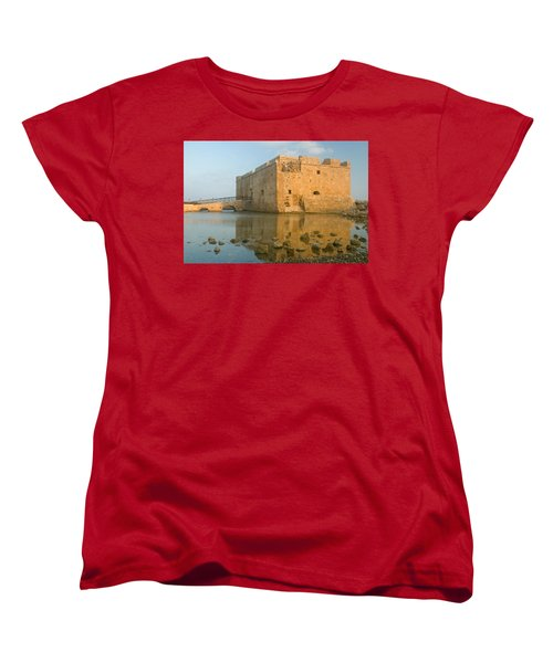 Paphos Harbour Castle Women's T-Shirt (Standard Cut) by Jeremy Voisey