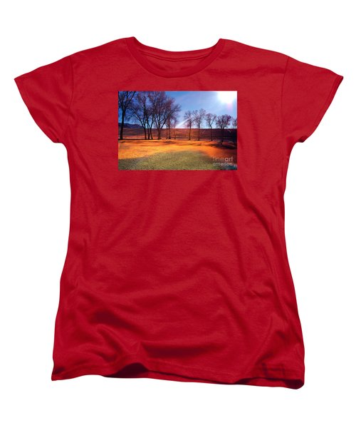 Park In Mcgill Near Ely Nv In The Evening Hours Women's T-Shirt (Standard Cut) by Gunter Nezhoda