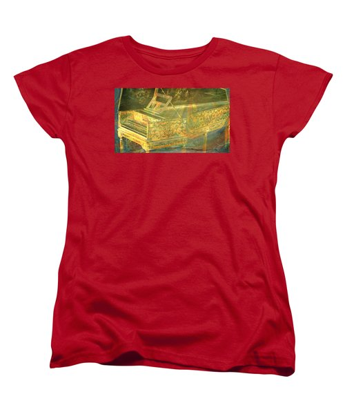 Women's T-Shirt (Standard Cut) featuring the mixed media Past To Present by Ally  White