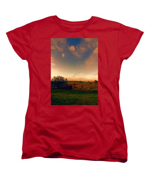 Pastureland Women's T-Shirt (Standard Cut) by Don Schwartz