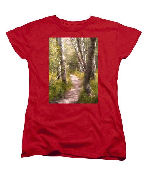 Path 1 Women's T-Shirt (Standard Cut) by Pamela Cooper