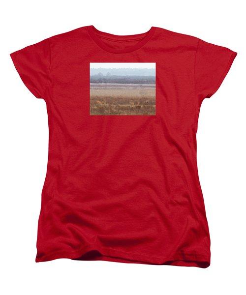 Women's T-Shirt (Standard Cut) featuring the photograph Paynes Prairie White Birds by Paul Rebmann
