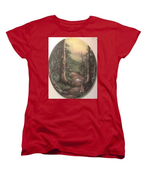 Women's T-Shirt (Standard Cut) featuring the painting Peace Time by Megan Walsh