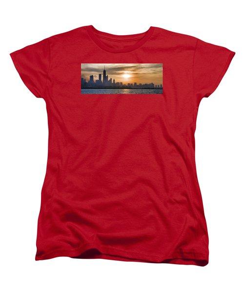 Peaceful Chicago Women's T-Shirt (Standard Cut) by John Hansen