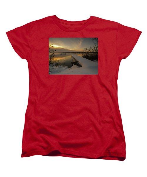 Peaceful Morning  Women's T-Shirt (Standard Cut) by Davorin Mance