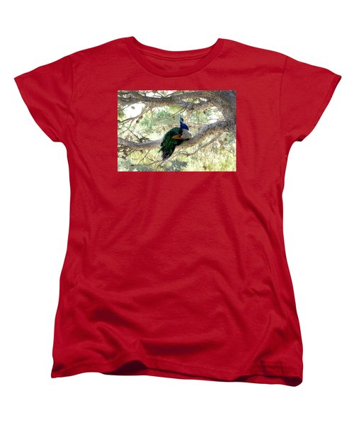 Peacock Women's T-Shirt (Standard Cut) by Gina Dsgn