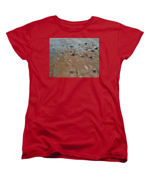 Women's T-Shirt (Standard Cut) featuring the painting Pebbles by Cherise Foster