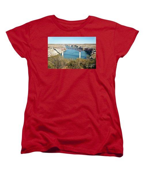 Women's T-Shirt (Standard Cut) featuring the photograph Pecos Bridge by Erika Weber