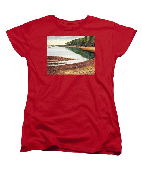 Women's T-Shirt (Standard Cut) featuring the painting Penobscot Bay by Roger Rockefeller