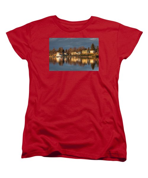 Reflection Of A Village - Phoenix Ny Women's T-Shirt (Standard Cut) by Everet Regal