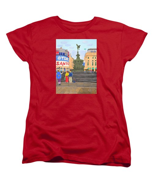London- Piccadilly Circus Women's T-Shirt (Standard Cut) by Magdalena Frohnsdorff