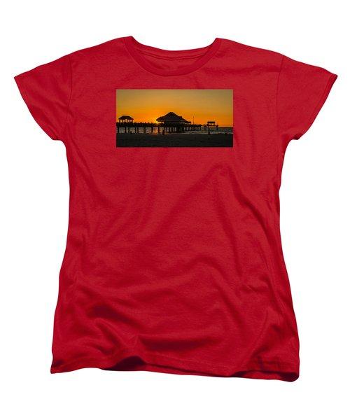 Pier 60 Sunset Women's T-Shirt (Standard Cut) by Jane Luxton