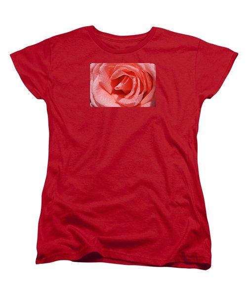 Pink Rose Women's T-Shirt (Standard Cut) by Kathy Churchman