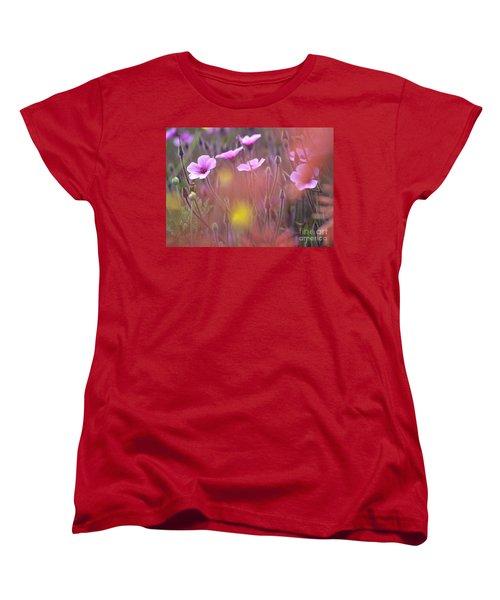 Pink Wild Geranium Women's T-Shirt (Standard Cut) by Heiko Koehrer-Wagner