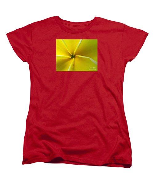 Pinwheel Plumeria Women's T-Shirt (Standard Cut) by Joy Hardee