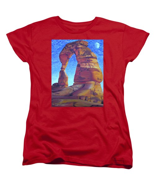 Women's T-Shirt (Standard Cut) featuring the painting Place Of Power by Joshua Morton
