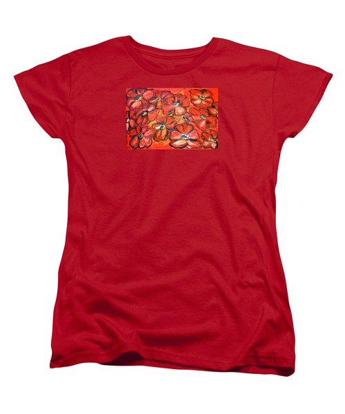 Plaisir Rouge Women's T-Shirt (Standard Cut) by Ramona Matei
