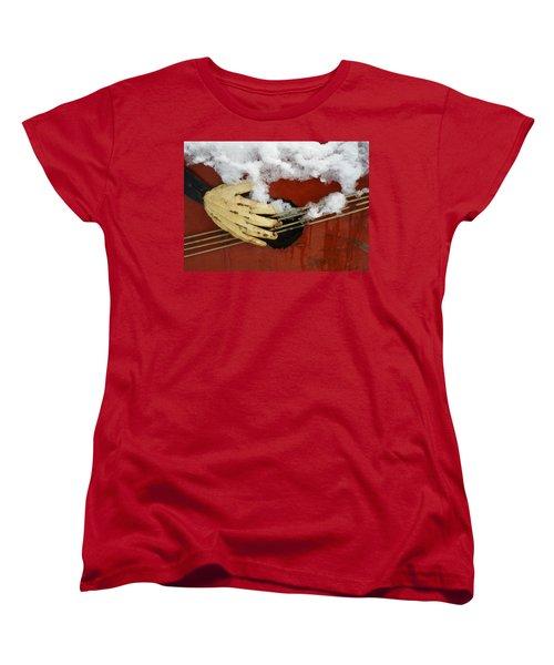 Playing The Cold Blues Women's T-Shirt (Standard Cut) by David Pantuso