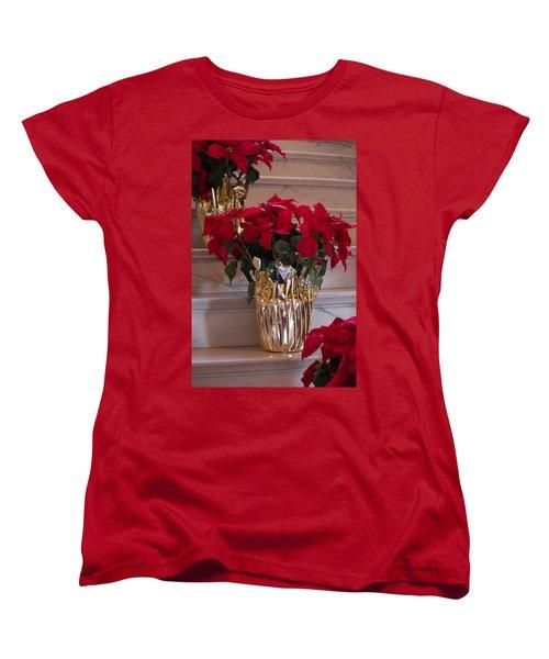 Poinsettias Women's T-Shirt (Standard Cut) by Patricia Babbitt