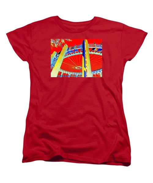 Pop Goes The Pavillion Women's T-Shirt (Standard Cut) by Ed Weidman