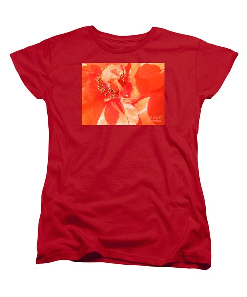 Women's T-Shirt (Standard Cut) featuring the photograph Poppy Palette In Red by Brian Boyle