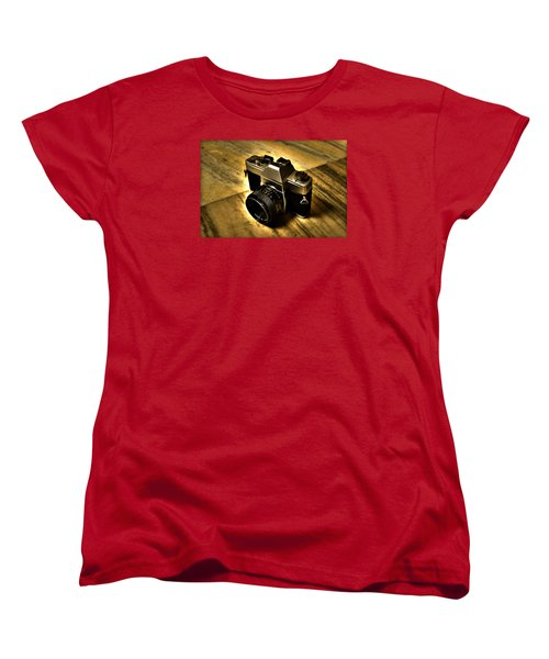 Women's T-Shirt (Standard Cut) featuring the photograph Porst Flex Slr by Salman Ravish