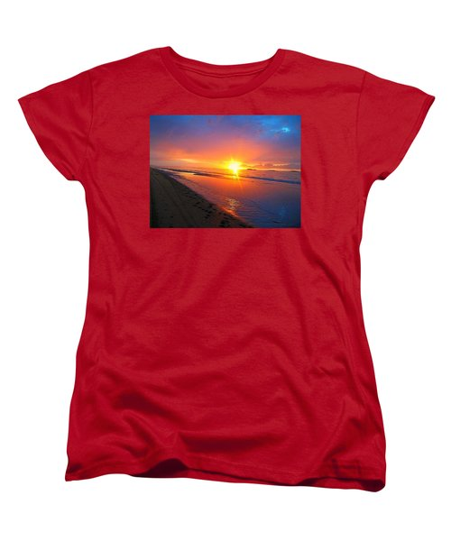 Portrush Sunset Women's T-Shirt (Standard Cut) by Tara Potts