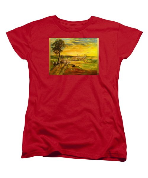 Pose2 Women's T-Shirt (Standard Cut) by Mary Ellen Anderson