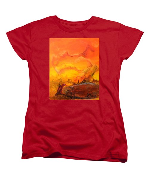 Post Nuclear Watering Hole Women's T-Shirt (Standard Cut) by Christophe Ennis