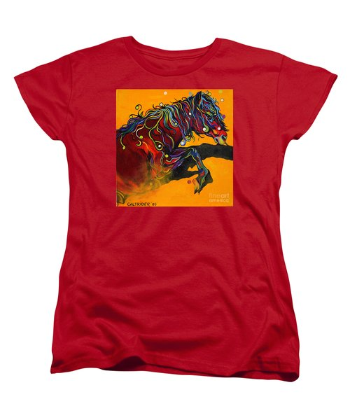 Women's T-Shirt (Standard Cut) featuring the painting Prelude To A Dance by Alison Caltrider