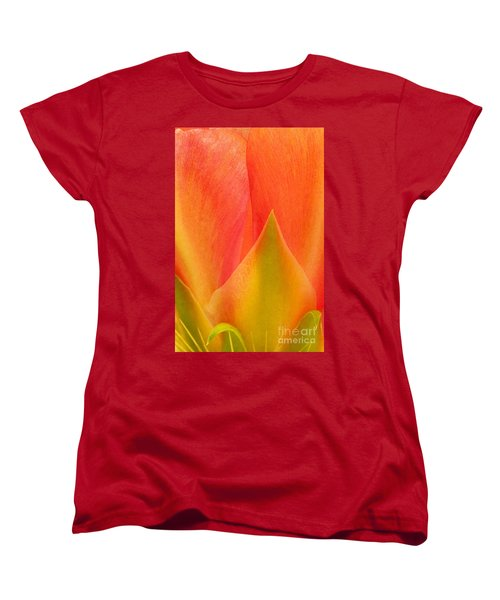 Women's T-Shirt (Standard Cut) featuring the photograph Prickly Pear Flower Petals Opuntia Lindheimeni In Texas by Dave Welling
