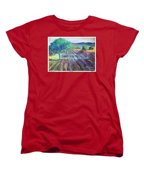 Provence Lavender Field Women's T-Shirt (Standard Cut) by Eric  Schiabor