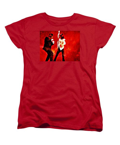 Women's T-Shirt (Standard Cut) featuring the painting Pulp Fiction Dance 2 by Brian Reaves
