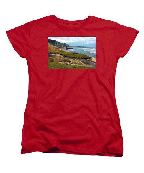Women's T-Shirt (Standard Cut) featuring the photograph Punakaiki Truman Track by Stuart Litoff
