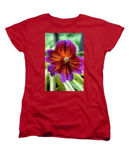Purple And Orange Women's T-Shirt (Standard Cut) by Jacqueline Athmann