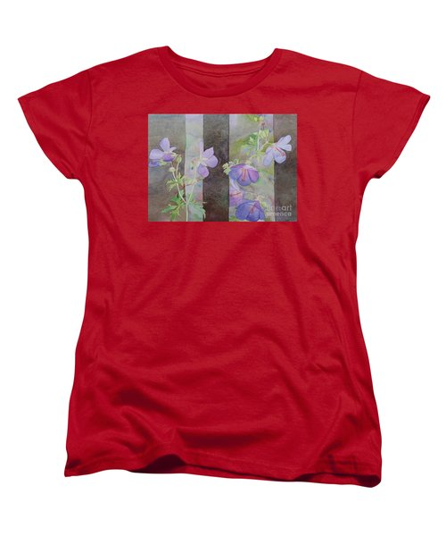 Purple Ivy Geranium Women's T-Shirt (Standard Cut) by Laurel Best