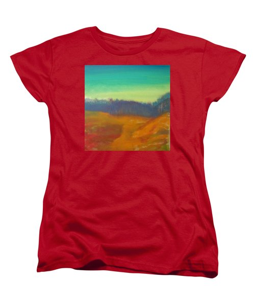 Women's T-Shirt (Standard Cut) featuring the painting Quiet by Keith Thue