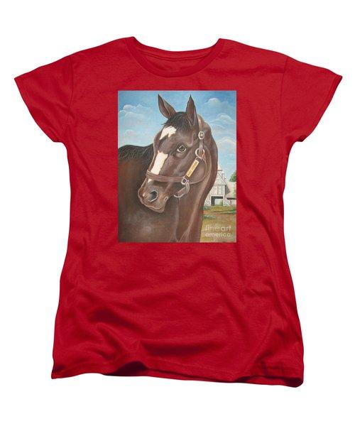 Rachel Alexandra At Stonestreet Farms Women's T-Shirt (Standard Cut) by Patrice Torrillo